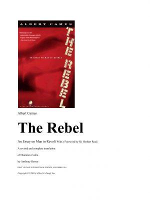 The Rebel – Albert Camus – eBook